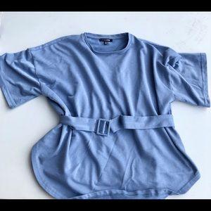 Medium Fashion Nova Blue T Shirt
